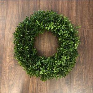 "NEW. Hearth & Hand. 15"" Boxwood. Wreath."